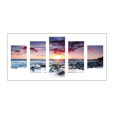 5pcs Diamond Painting - Full Round - Sea Sunset