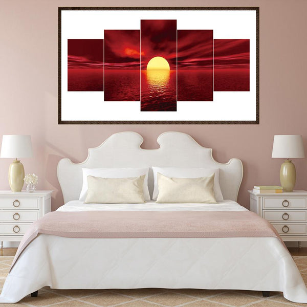 5pcs Diamond Painting - Full Round - Beautiful Sunrise