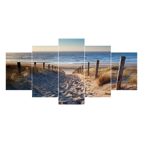 5pcs Diamond Painting - Full Round - Beach Path