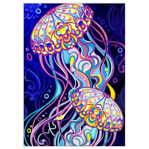 Diamond Painting - Partial Round - Jellyfish