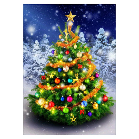 Diamond Painting - Full Round - Christmas Tree