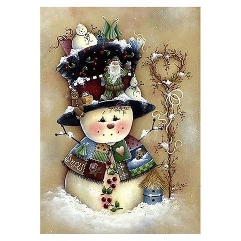 Diamond Painting - Full Round - Snowman