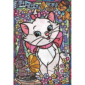 Diamond Painting - Full Round - Cartoon White Cat