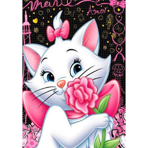 Diamond Painting - Full Round - Cute White Cat
