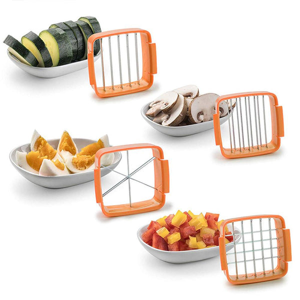 Multi-Functional Stainless Steel Vegetables Fruits Quick Cutter Slicer Kits