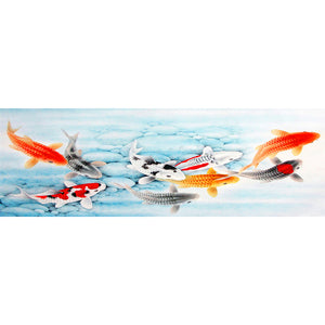 Diamond Painting - Full Round - Happy Fish (80*30cm)