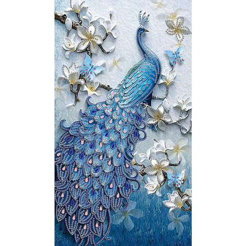 Diamond Painting - Crystal Rhinestone - Peacock(30*50cm)