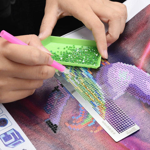 Stainless Steel Diamond Painting Ruler for DIY Sewing Embroidery Patchwork