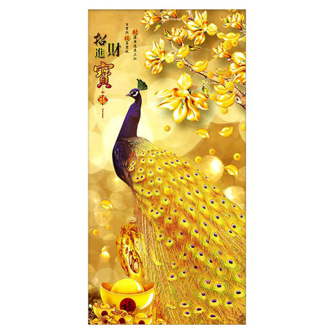 Diamond Painting - Full Round - Gold Peacock (95*50cm)