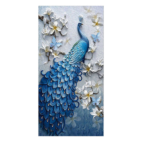 Diamond Painting - Full Round - Peacock (95*50cm)