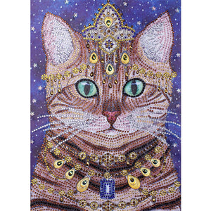 Diamond Painting - Crystal Rhinestone - Noble Cat