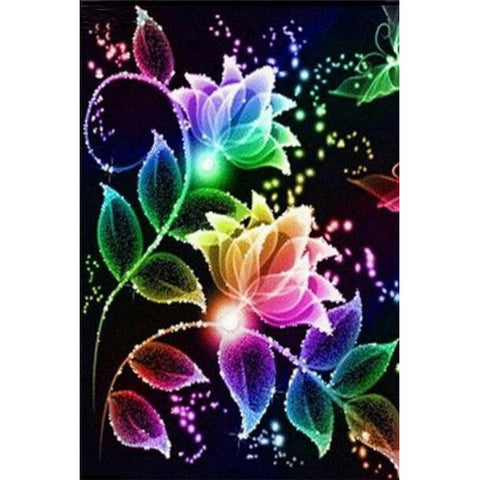Diamond Painting - Full Round - Colorful Fantasy Flower