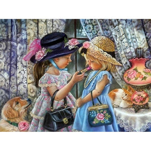 Diamond Painting - Full Square -  2 Girls