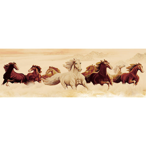Diamond Painting - Full Round - Running Horses (80*30cm)