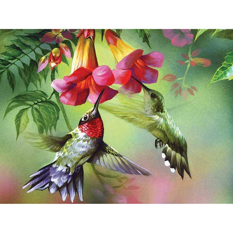 Diamond Painting - Full Round - Spring Bird and Flower