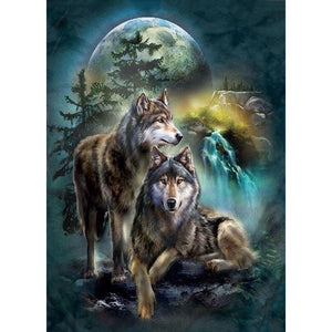 Diamond Painting - Full Round - Night Wolf