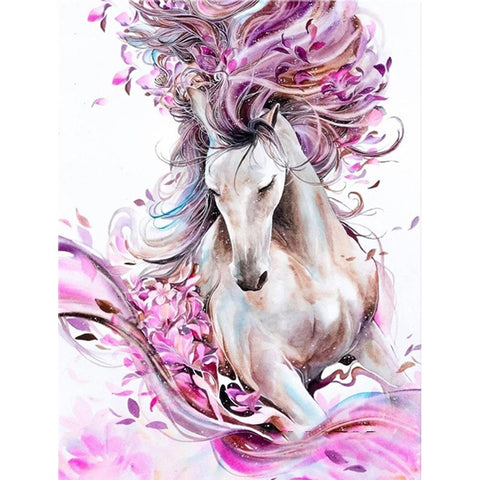 Diamond Painting - Full Round - Pink Horse