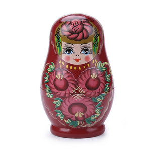 5 Layer Novelty Russian Nesting Doll Wooden Matryoshka Set Hand Painted