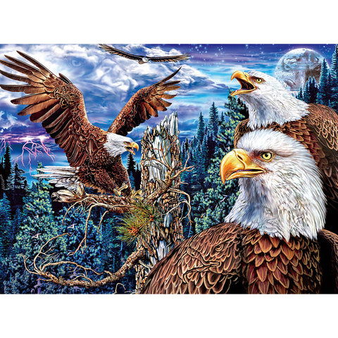 Diamond Painting - Full Round - Eagles in Forest