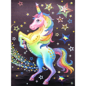 Diamond Painting - Crystal Rhinestone - Unicorn