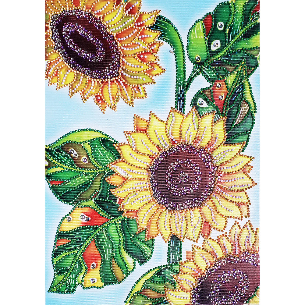 Diamond Painting - Crystal Rhinestone - Sunflower