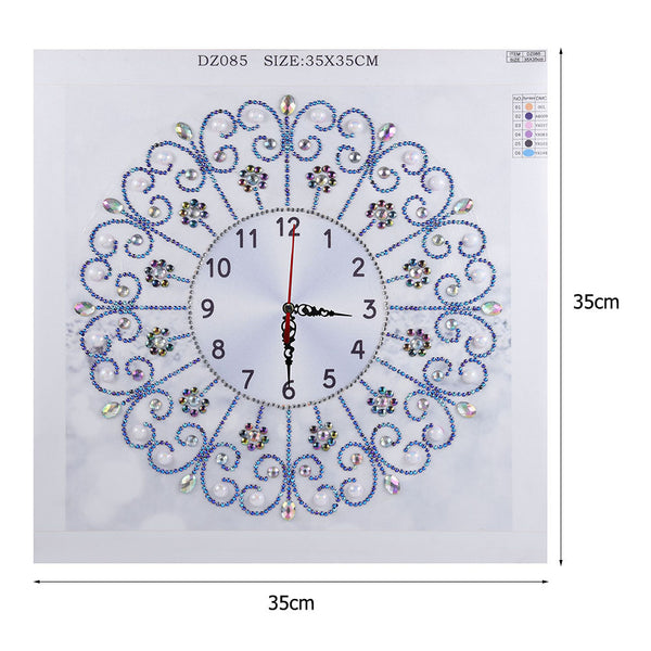 Diamond Painting - Crystal Rhinestone - Clock