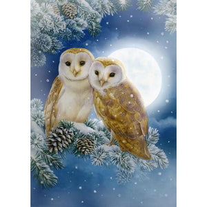 Diamond Painting - Full Square - Snow Owl