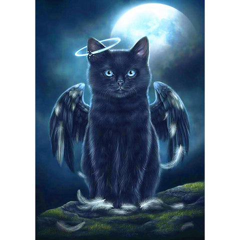 Diamond Painting - Full Square - Black Cat Wing