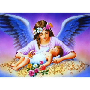 Diamond Painting - Full Round - Mother Angel