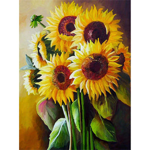Diamond Painting - Full Square - Sunflower