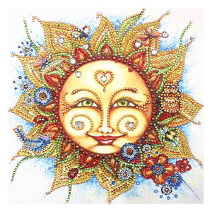 Diamond Painting - Crystal Rhinestone - Sun Face