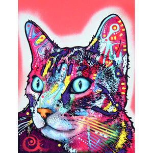 Diamond Painting - Full Square - Colorful Cat