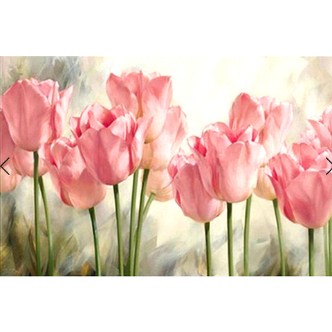 Diamond Painting - Full Square - Pink Flowers