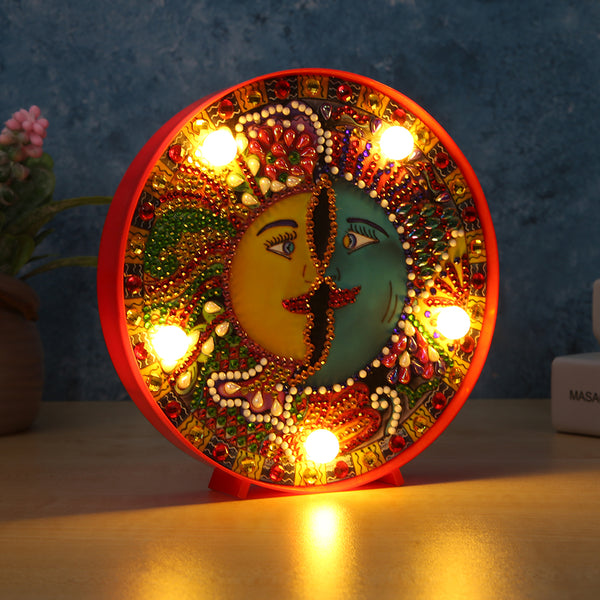 DIY Special Drill LED Diamond Painting Light Moon Cross Stitch Night Lamp