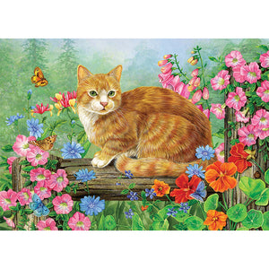Diamond Painting - Full Square - Fat Cat