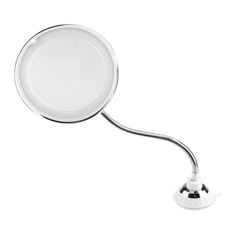 360 Degrees 10X Folding Rotating Makeup Mirror LED Magnifying Vanity Mirror