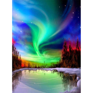 Diamond Painting - Full Square - Aurora Lake