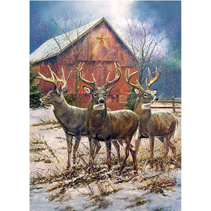 Diamond Painting - Full Square - Elks