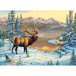 Diamond Painting - Full Square - Snow Elk