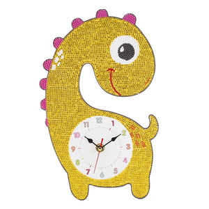 DIY Giraffe Full Drill Diamond Painting Embroidery Clock
