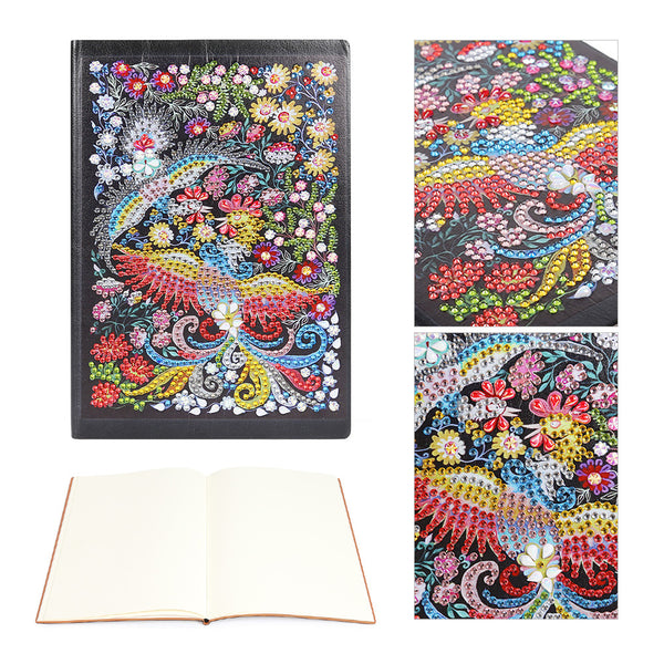 DIY Phoenix Special Shaped Diamond Painting 50 Pages A5 Notepad Notebook