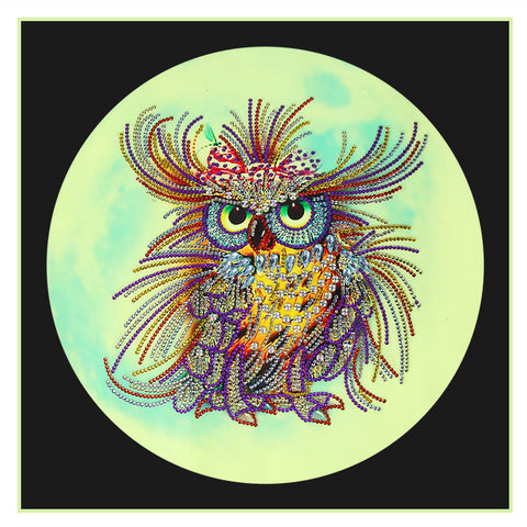 Luminous Diamond Painting - Crystal Rhinestone - Owl