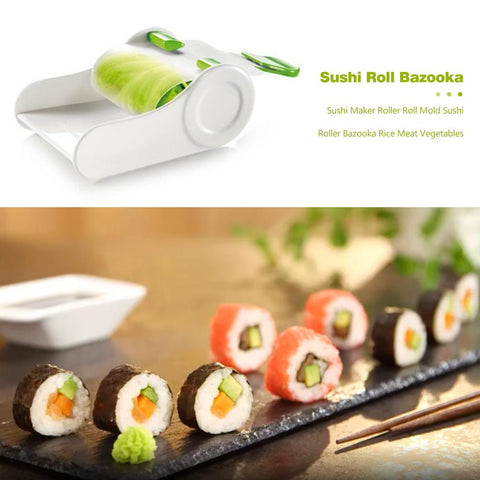 Kitchen Sushi Maker DIY Sushi Roller Bazooka Rice Meat Vegetables Roll Mold