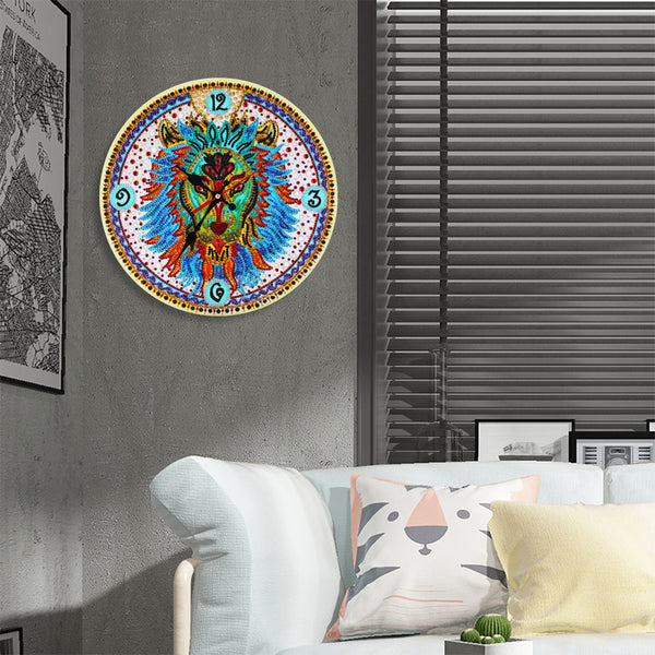 DIY Owl Special Shaped Diamond Painting Embroidery Clock Home Decor Gift