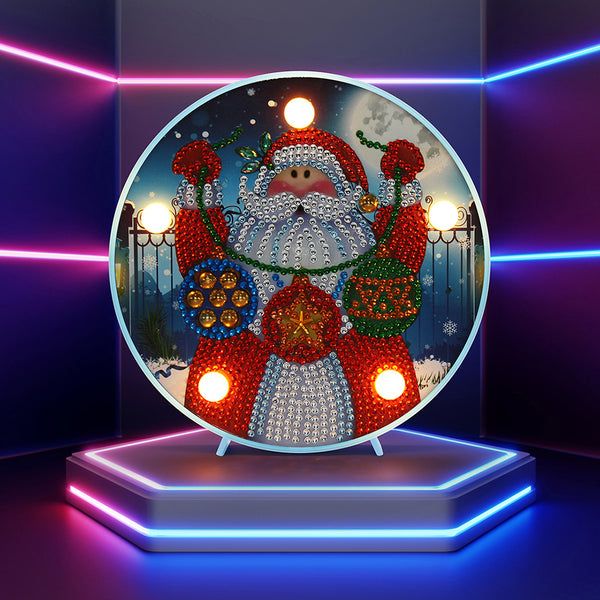 DIY LED Special Shaped Diamond Painting Embroidery Night Lamp Table Decor