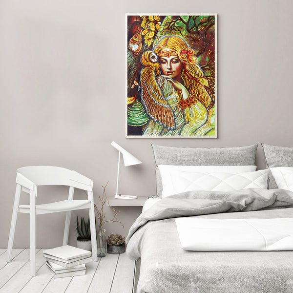 Diamond Painting - Crystal Rhinestone - Beautiful Girl