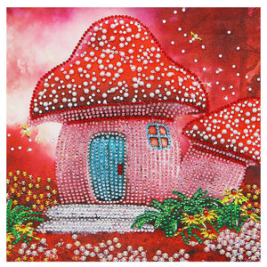 Diamond Painting - Crystal Rhinestone - Red Mushroom
