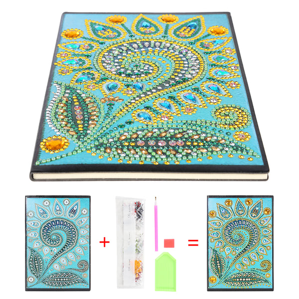 DIY Mandala Special Shaped Diamond Painting 50 Pages Sketchbook A5 Notebook