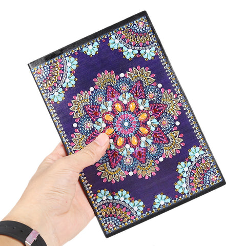 DIY Mandala Special Shaped Diamond Painting 50 Pages A5 Sketchbook Notepad
