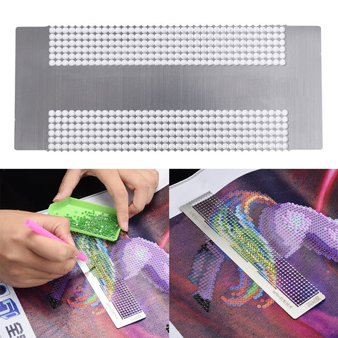 Diamond Painting Paste Sticker Dotting Rhinestone Point Ruler DIY Drilling